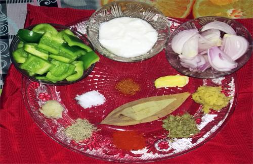 Ingredients for Dahi Chicken