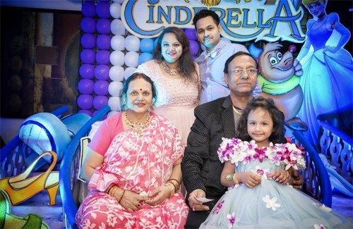 Nupur with her family