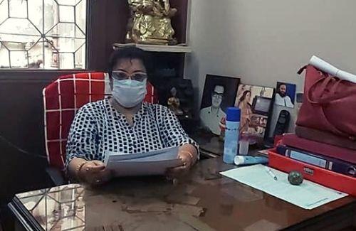 Jayati Chowdhury at her office