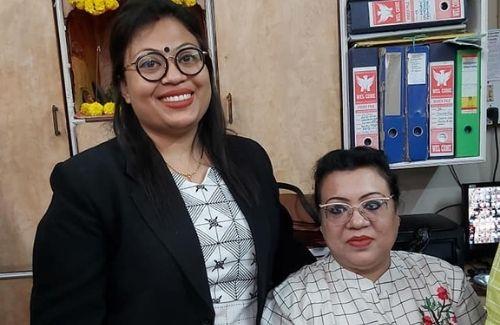 Jayati Chowdhury with her daughter Mandobi Chowdhury